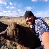 GoPro Man and Bear-min